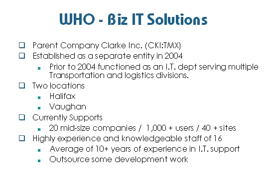 WHO -Biz IT Solutions
